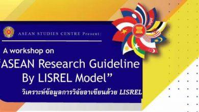 Photo of การวิเคราะห์ข้อมูลการวิจัยอาเซียนด้วย LISREL