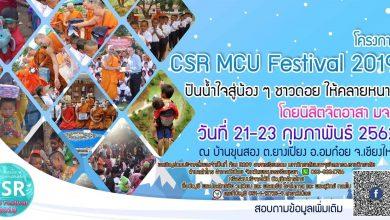 """Photo of """"CSR MCU Festival 2019"""" ปันน้ำใจให้น้องๆ ชาวดอยให้คลายหนาว โดยนิสิตจิตอาสาทำดีคืนสังคม"""
